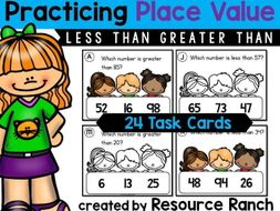 Less Than and Greater Than Task Cards