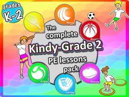 Kindergarten/Reception to Grade 2 PE Sport Lessons - Complete Skill and Games Pack 2017