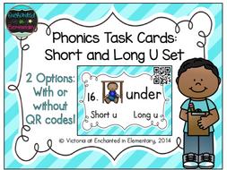 Phonics Task Cards: Short and Long U