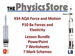 KS4 GCSE Physics AQA P10 8a Forces and Elasticity Lesson Bundle