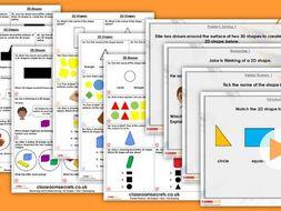 Year 1 2D Shapes Autumn Block 3 Step 3 Maths Lesson Pack