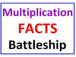 Multiplication Facts BATTLESHIP with Greater Than Less Than