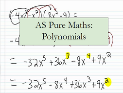 AS Pure Maths: Polynomials (Whole Topic)