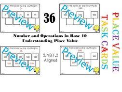 36 PLACE VALUE TASK CARDS – LITTLE PREP NEEDED! CCSS 2.NBT.2