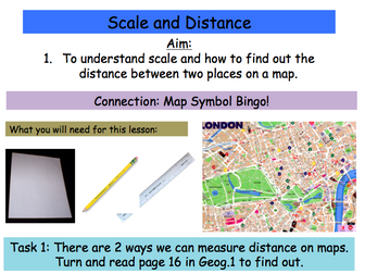 Map Skills Scale And Distance By NattyP Teaching Resources - Skills worksheet map skills us crops
