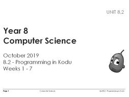 Programming in Kodu (7 weeks)
