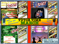 Tutor time activities - March