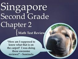Singapore 2nd Grade Chapter 2 Math Test Review (3 pages)