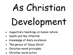 OCR AS Christian Development keywords and definitions