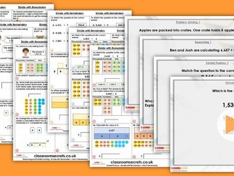 Year 5 Divide With Remainders Spring Block 1 Step 7 Maths Lesson Pack