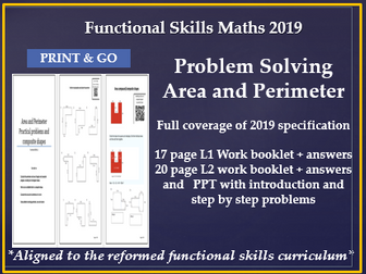 Reformed functional skills maths area and perimeter problems