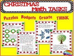 Christmas maths activities task cards maths centres puzzles word christmas maths activities task cards maths centres puzzles word problems set 1 ibookread PDF
