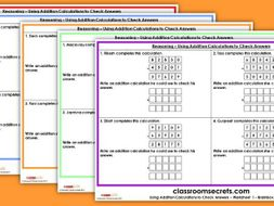 SATs Reasoning  KS2 Paper 2 Q2 - Using Addition Calculations to Check Answers Test Practice