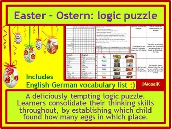 German Easter logic puzzle thinking skills