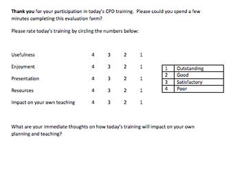 training class evaluation form