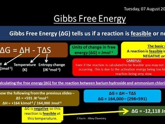 NEW OCR A Yr2 5.2.2 Enthalpy and Entropy Revision