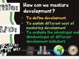 How can we measure development? KS3 Geography
