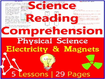 Physical Science Reading Passages   Electricity & Magnets   Grade 5-6