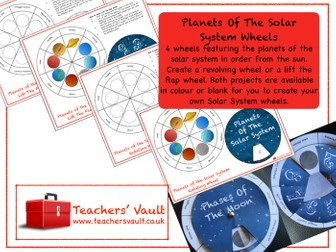 Planets Of The Solar System Wheels