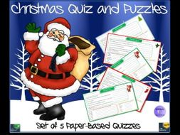 Printable Paper Based Christmas Quizzes And Puzzles By Krazikas