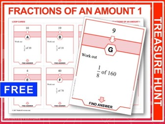 Fractions of an Amount 1 (Treasure Hunt)
