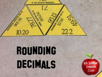 Rounding Decimals Math Center Game with Tenths Hundredths and Whole Numbers