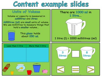 Measuring Capacity - Year 2 (PowerPoint and worksheets)