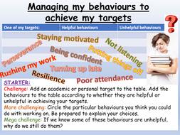 Behaviour + Target Setting