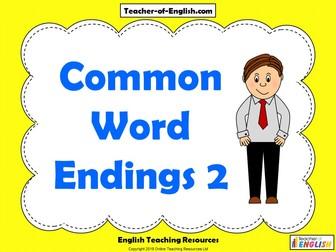 Common Word Endings 2