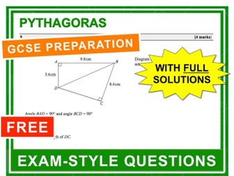 GCSE 9-1 Exam Question Practice (Pythagoras)