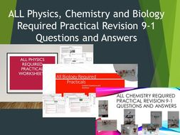 ALL Physics Chemistry and Biology Required Practical Revision