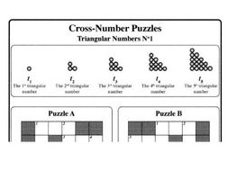 Cross-Number Puzzles: Triangular Numbers No1 by mistercorzi1 ...