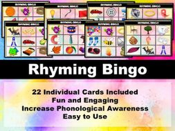 Rhyme Bingo Game (Phonics)