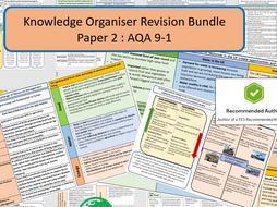 GCSE AQA 9-1AQA 9-1 Paper 2 Complete Knowledge Organiser Revision Bundle.