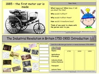 The Industrial Revolution in Britain: An introduction to the Industrial Revolution