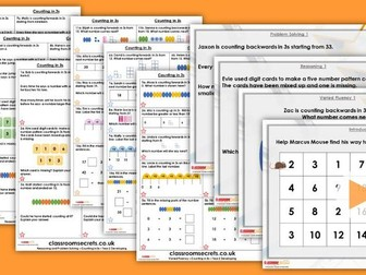 Year 2 Counting in 3s Autumn Block 1 Step 10 Maths Lesson Pack