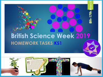 British Science Week 2019 Homework Tasks KS1