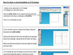 2 D Design helpsheets