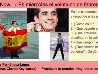 Winter Olympics Spanish Sports - PowerPoints, Worksheets, and Activities