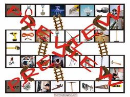 House Repairs, Tools and Supplies Chutes and Ladders Board Game