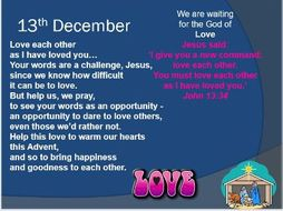 Advent Assembly and Advent Calendar