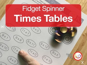 fidget Spinner Times Tables