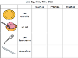 French Table Vocabulary : Worksheet by misssanglier - Teaching ...