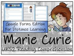 UKS2 Marie Curie Reading Comprehension & Distance Learning Activity