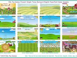 Present Simple Tense Barnyard English PowerPoint Game
