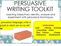 Persuasive Writing Scheme Suitable for Yr 7-8