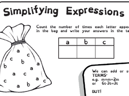 Simplifying Expressions - Collecting Like Terms - Low ability KS3/High KS2