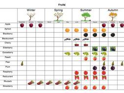 Fruit seasonality table & group activity