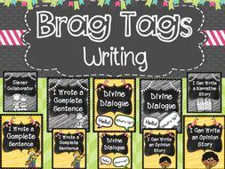 Writing Brag Tags (color version)