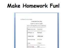 year 4 maths homework